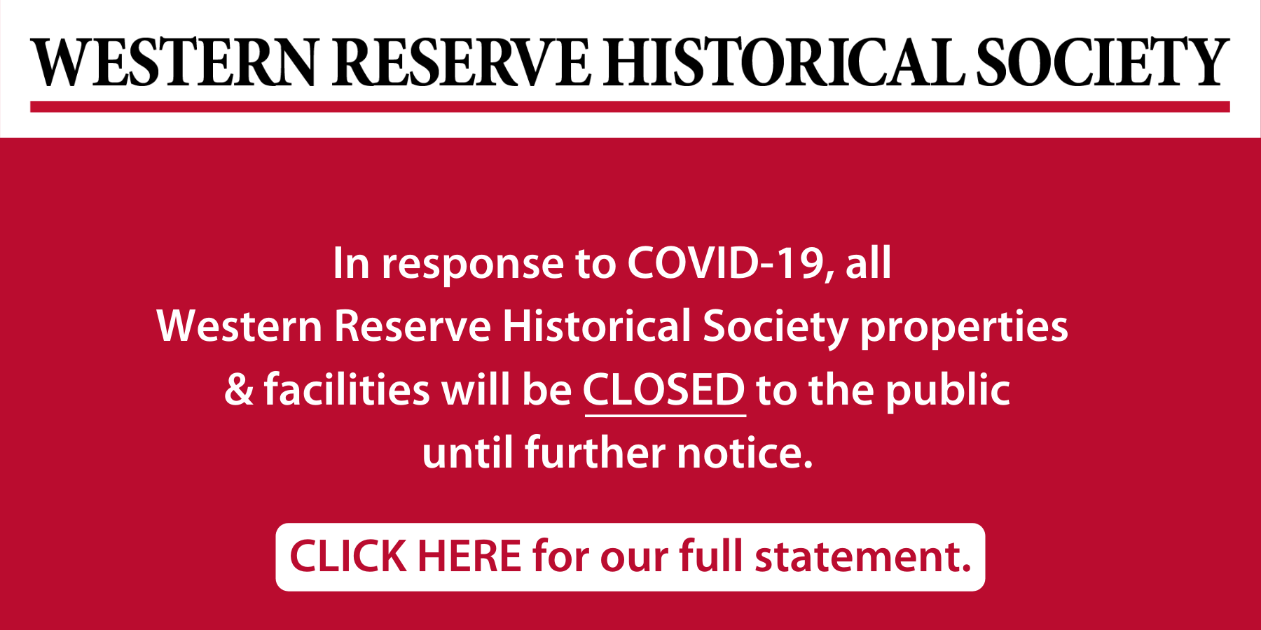 COVID-19 Web Statement 3.19.20