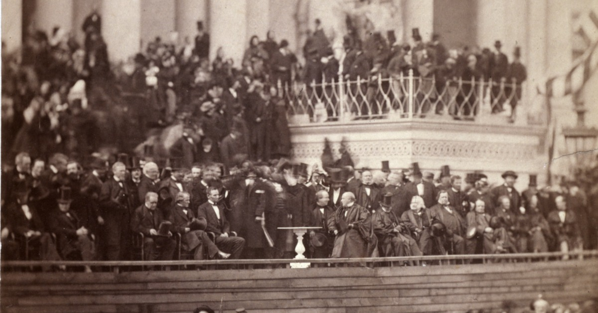 Photograph of President Abraham Lincoln's 2nd Inauguration