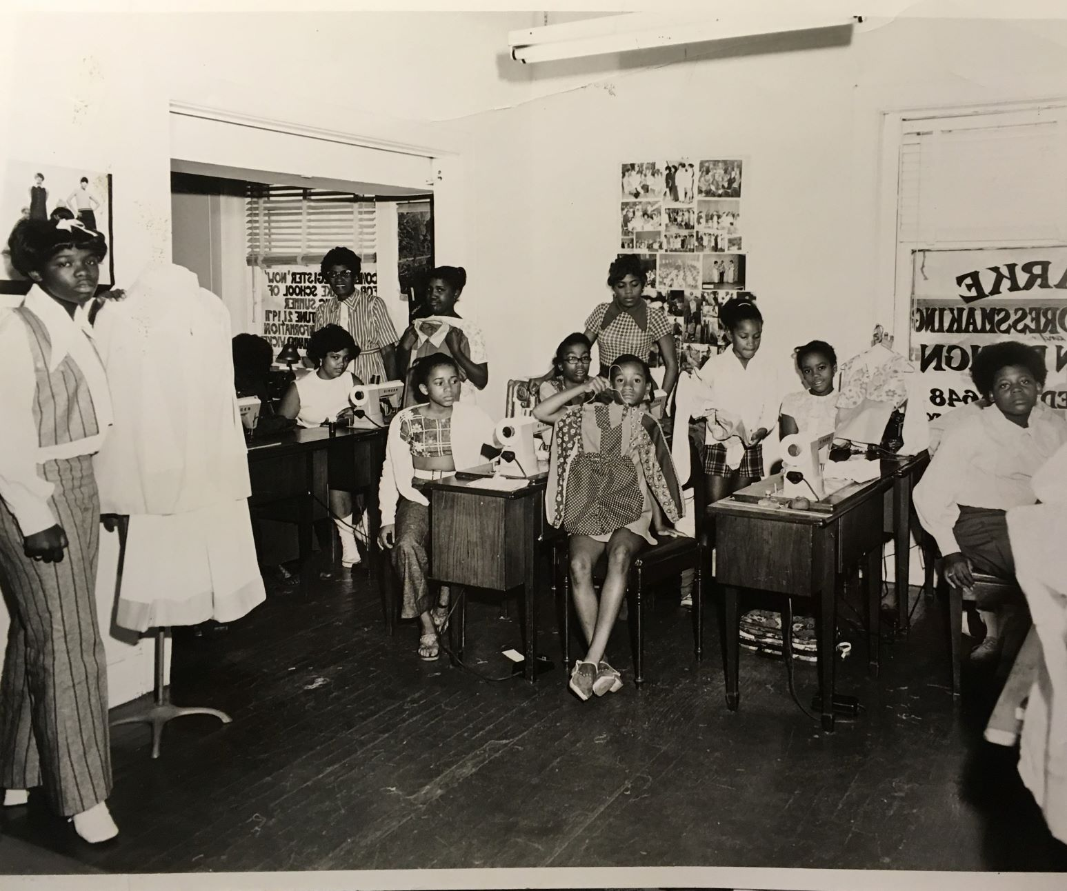 Students at the Clarke School of Dressmaking and Fashion Design